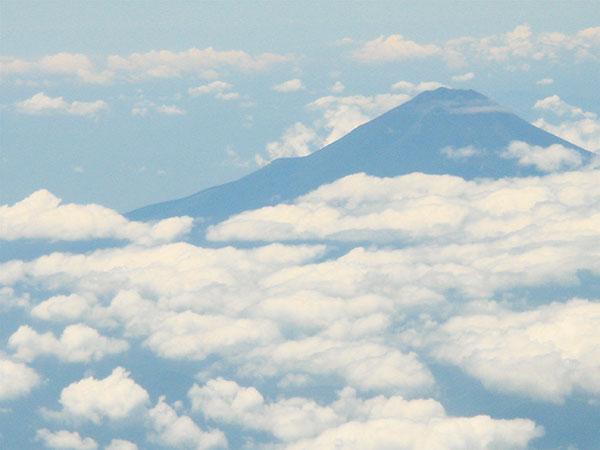 Núi Phú Sĩ chụp từ trên máy bay