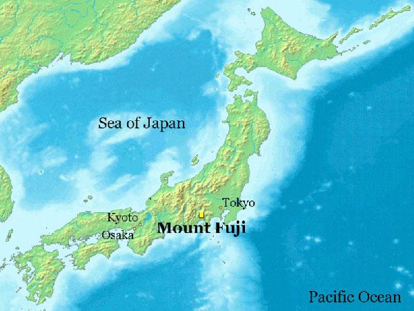 Vị trí núi Phú Sĩ