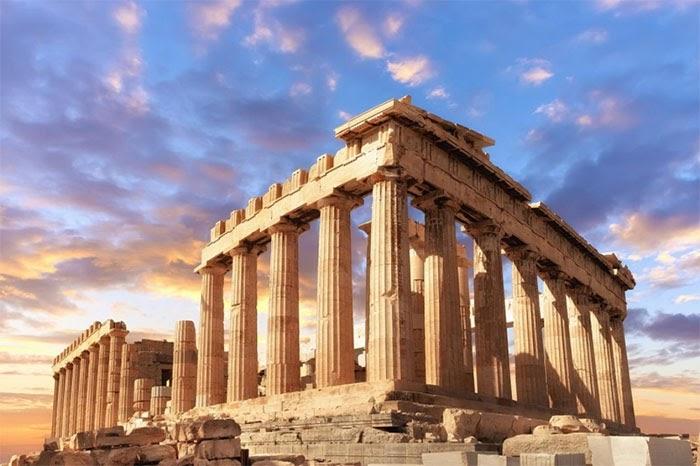 Hình ảnh tiêu biểu của kiến trúc Hy Lạp cổ đại
