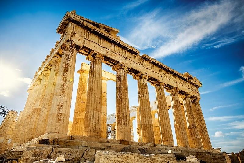 Đền Parthenon với kiến trúc Hy Lạp cổ đại